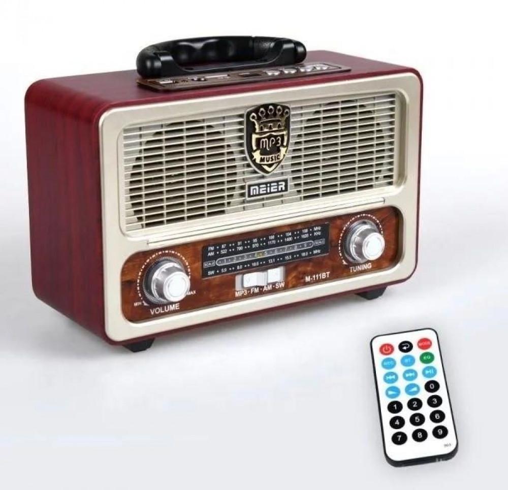 راديو مير M-111BT كلاسيكي انتيك من عصر60-70 الميلادية محمول