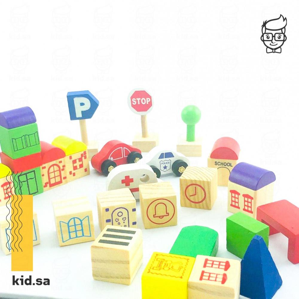لعبة مكعبات خشبية