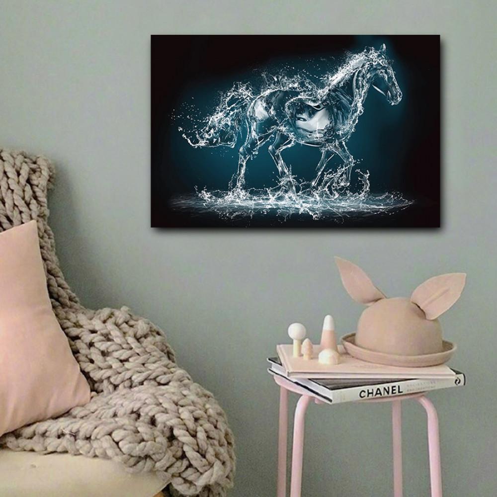 لوحة الحصان المائي خشب ام دي اف مقاس 40x60 سنتيمتر
