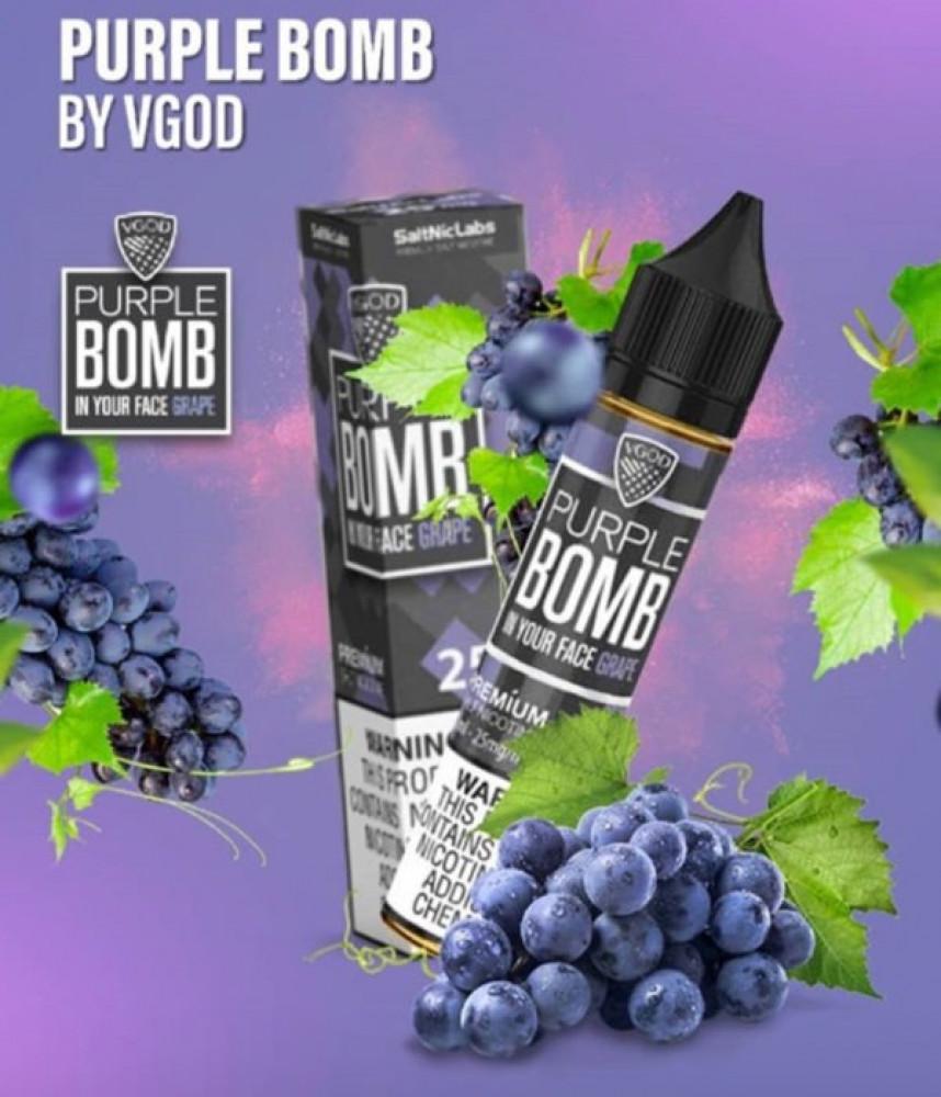 نكهة في قود- بربل بومب - عنب - سولت -  VGOD PURPLE BOMB Salt