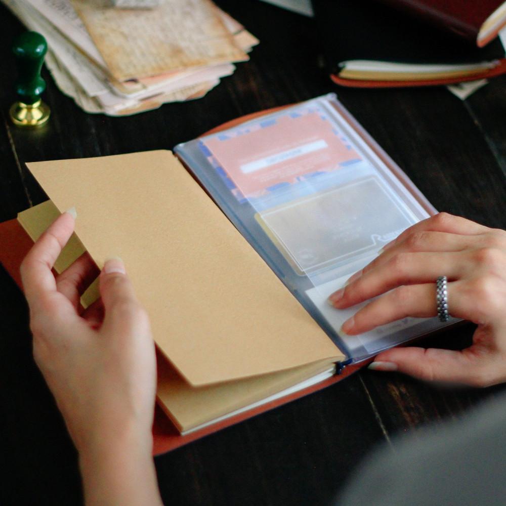 دفتر جلد لون بني مع محفظة دفاتر الملاحظات كراسة كشكول دفتر هدايا متجر