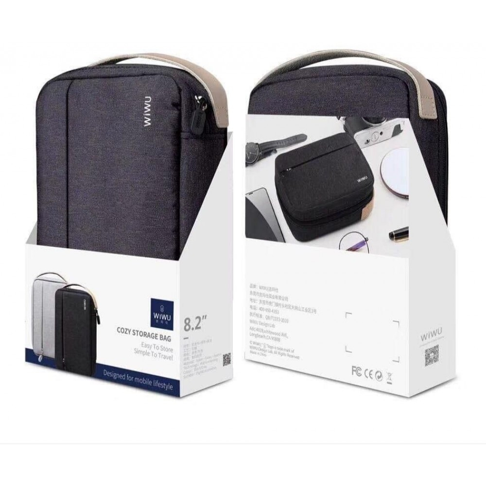 Cozy storage bag Easy to store simple to travel By WiWU black