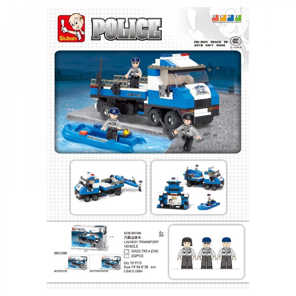 سلوبان, قطع تركيب مركب بوليس, ألعاب, Toys, Police, Sluban