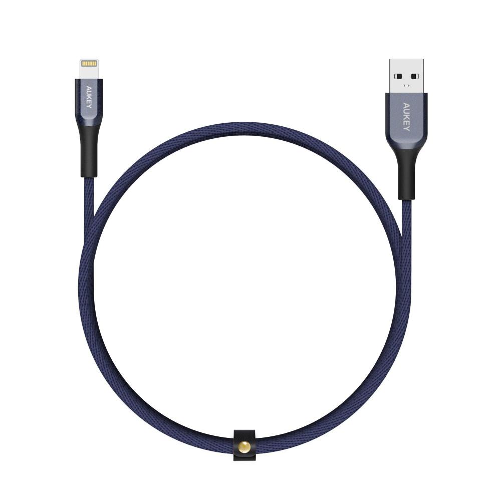أوكي كيبل لايتنينج إلى USB A كيفلار  أزرق غامق