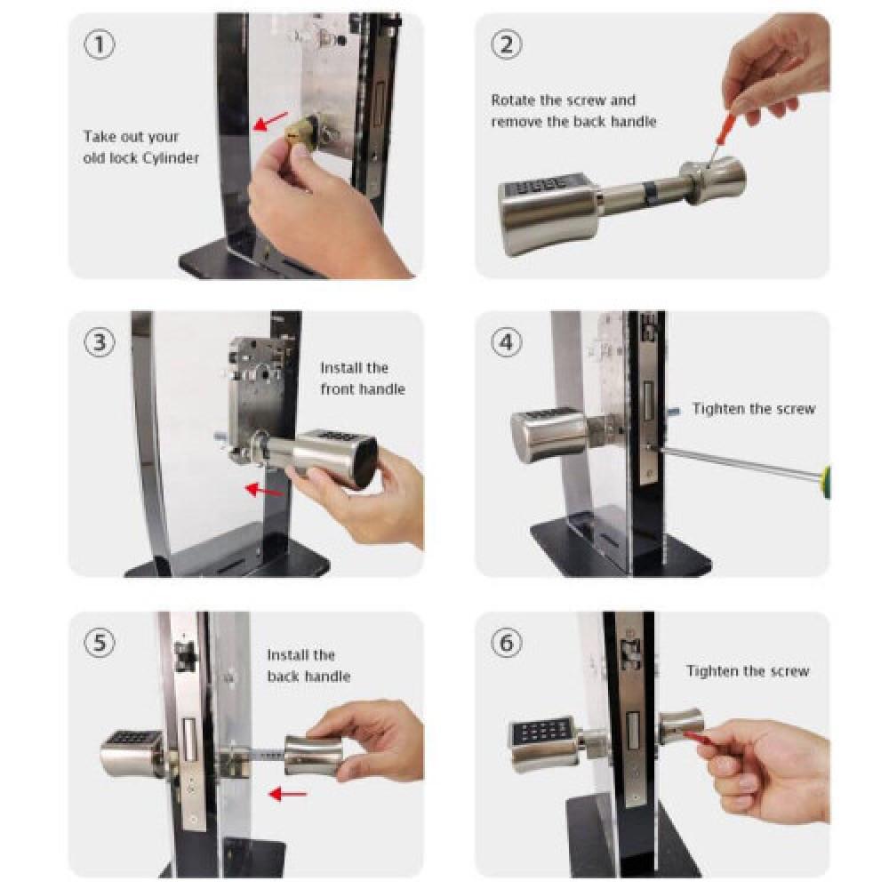 قفل الكتروني ذكي سهل التركيب