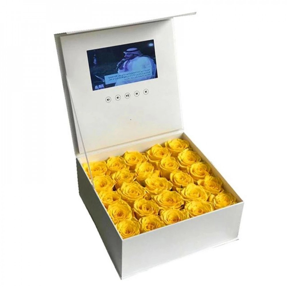 صندوق هدايا الشاشة حب زواج مناسبات ذكرى ورد