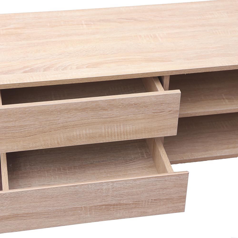 مواسم طاولة تلفاز بأربع أدراج ووحدات تخزين بأدراج سحب خشبية واسعة