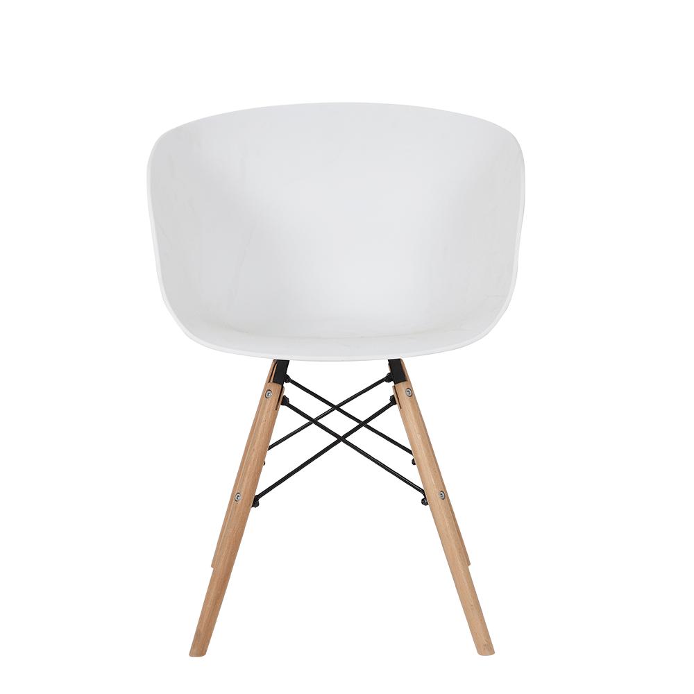رؤية خلفية للكرسي من طقم كراسي 4 قطع لون أبيض في ديل يوتريد للأثاث