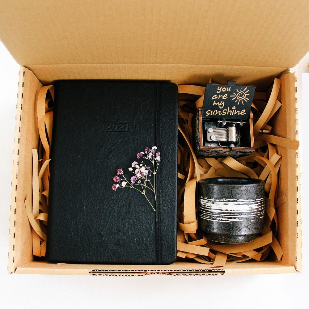 هدايا جاهزة لون أسود أجندة 2021 صندوق هدية محل هدايا عشاق القهوة متجر