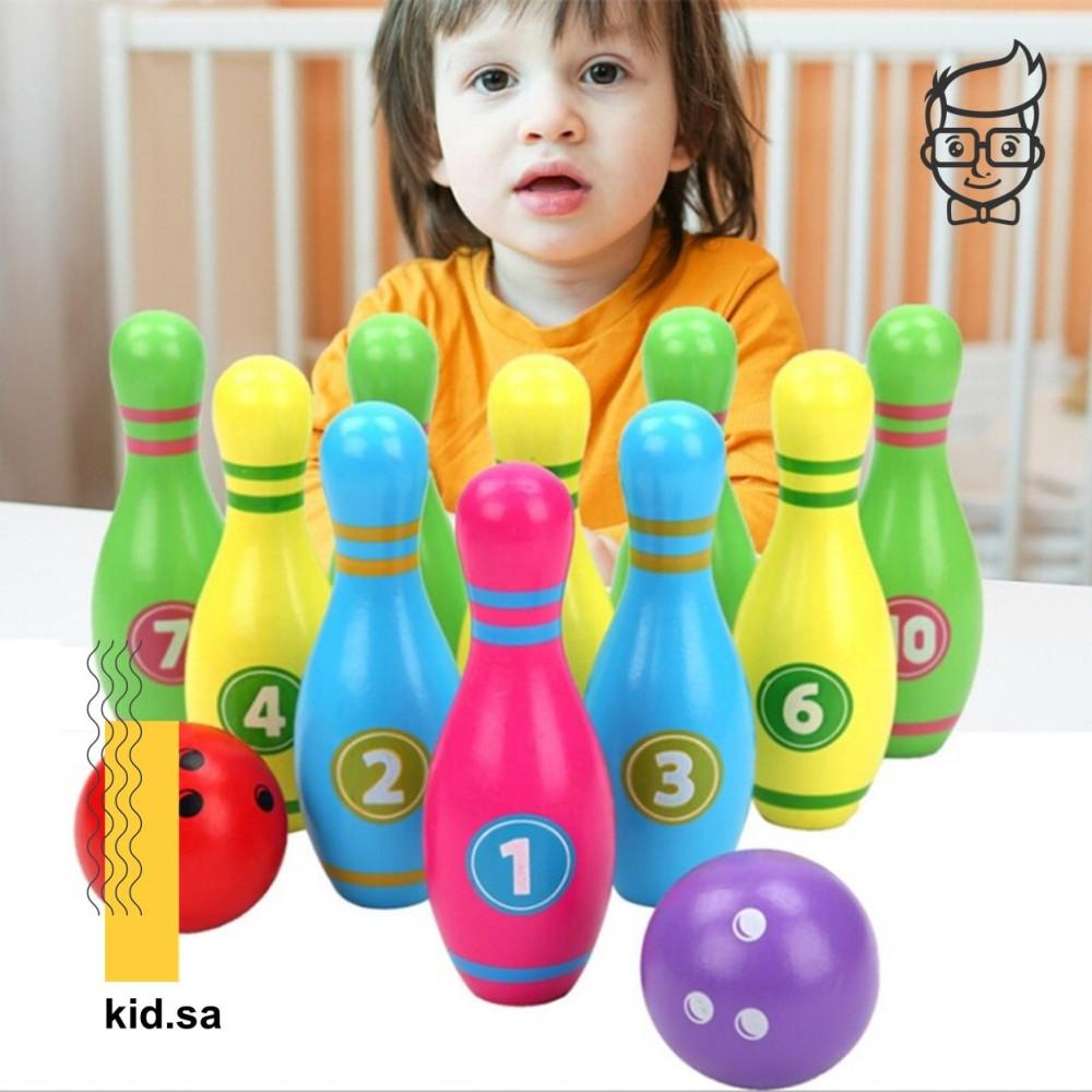 لعبة بولينج خشبي للاطفال