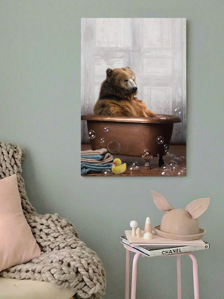 لوحة الدب خشب ام دي اف مقاس 40x60 سنتيمتر