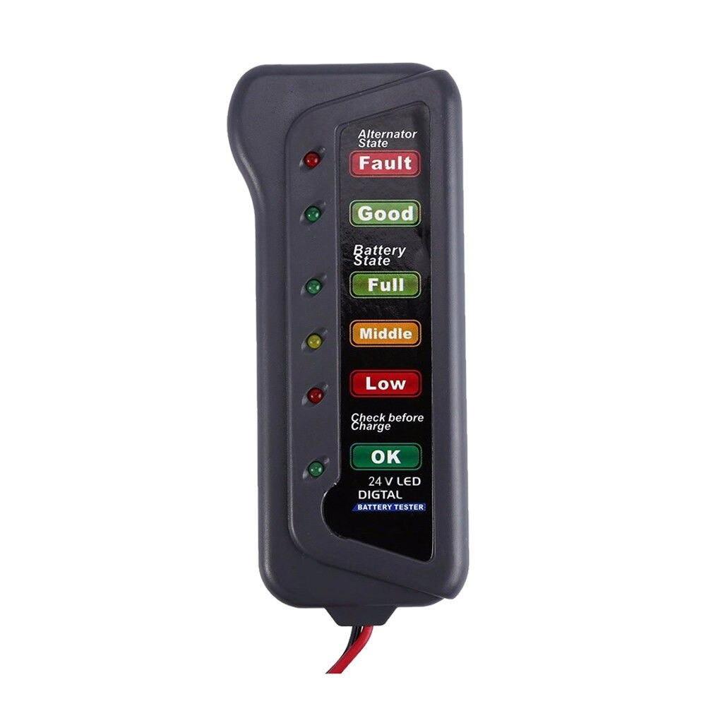 جهاز فحص كفاءه واعطال نظام شحن دينمو السيارة والبطارية 24 فولت 6 أوضاع