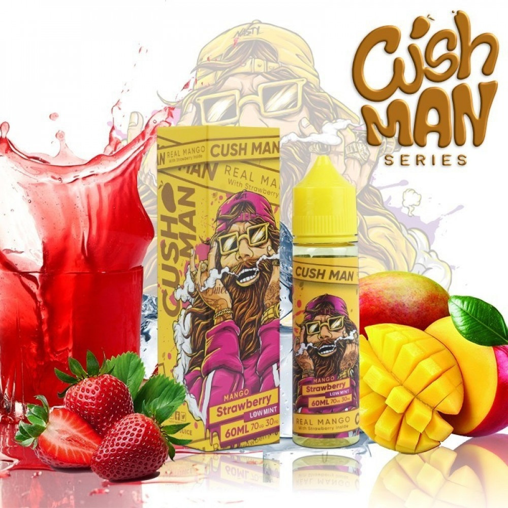 نكهة فيب كاش مان من ناستي جوس مانجو بالفراولة Cush Man