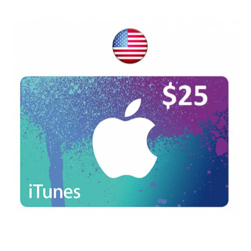 ايتونز امريكي 25 دولار