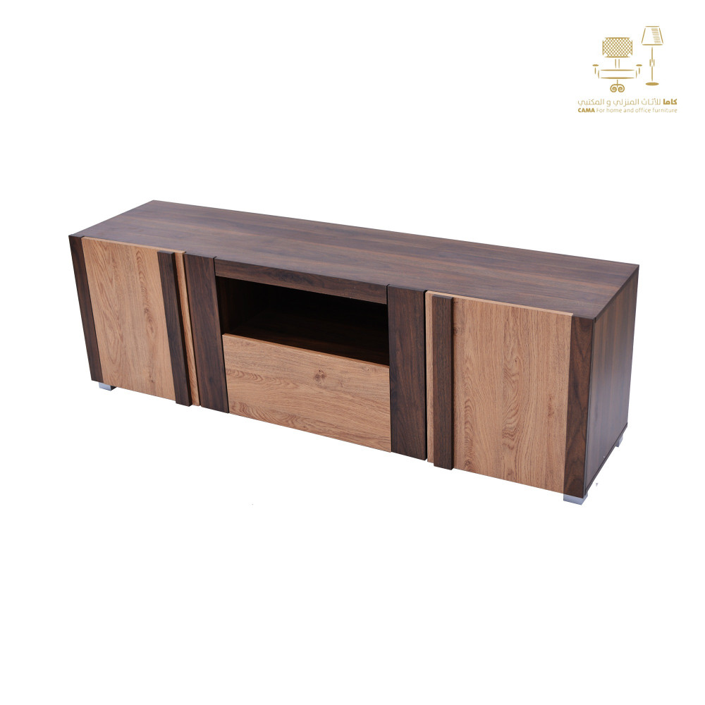 طاولة تلفزيون بني خشبي  160 سم CTV-2231 CO-160 من كاما