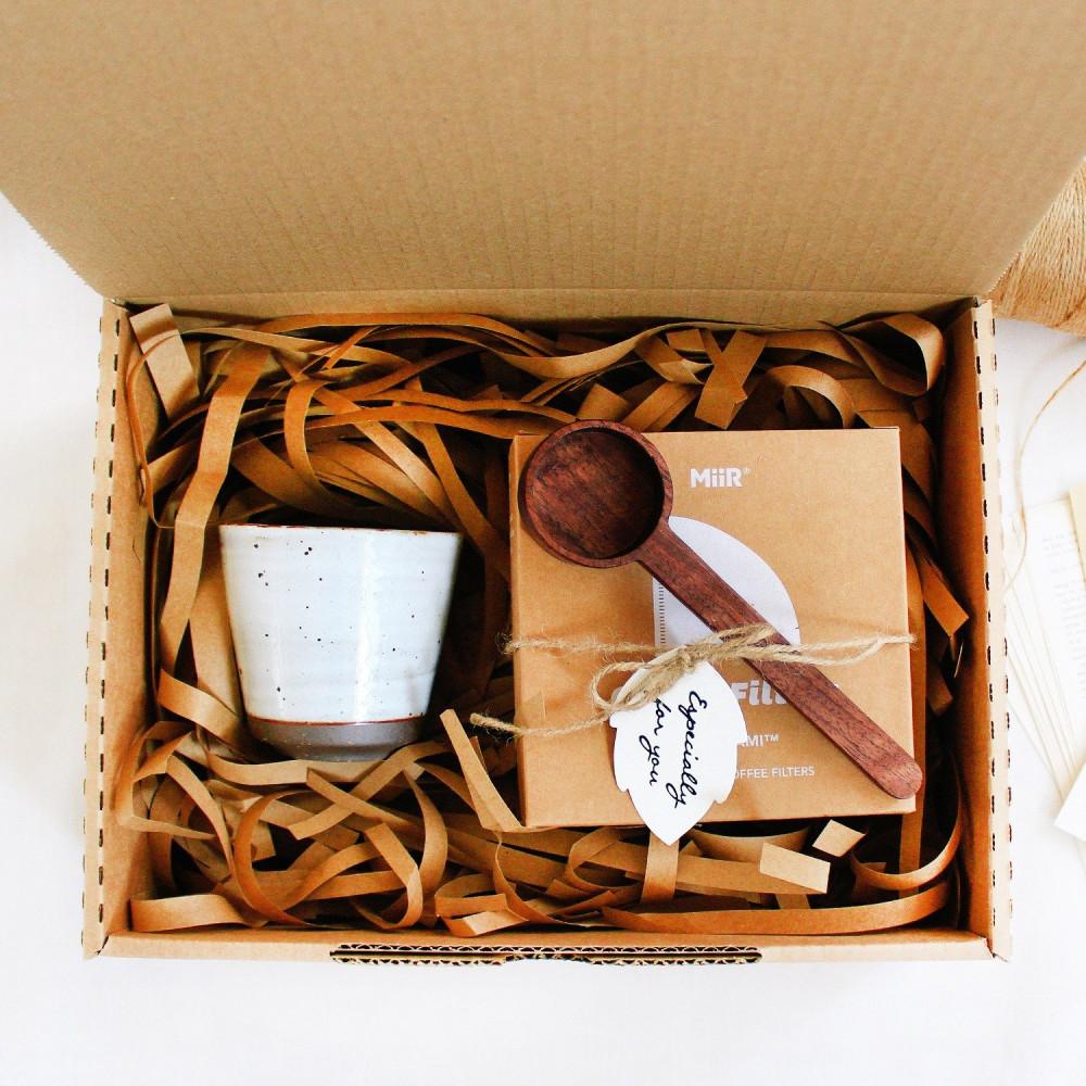 هدية جاهزة عشاق القهوة Gift Boxes كوب فلتر قهوة miir  خشب الجوز متجر