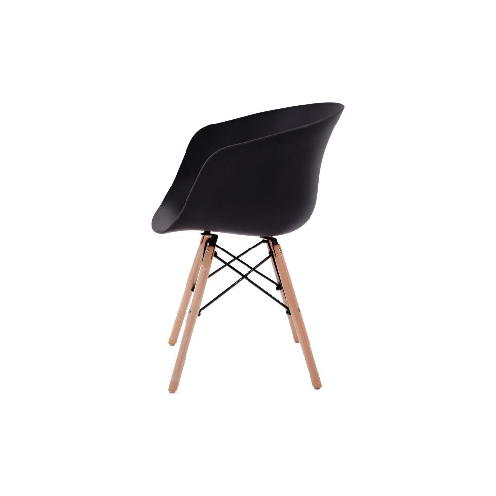 كرسي كاما فيبر اسود ارجل خشب C-D-815YM BLACK