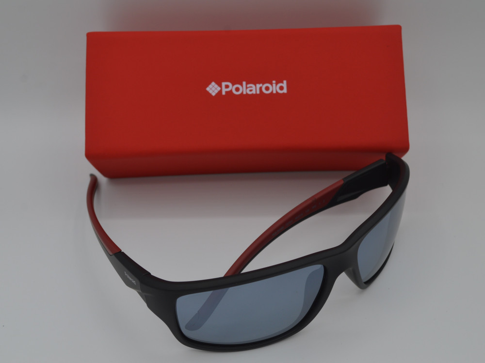 بولارويد POLAROID نظارة شمسية رجالية لون العدسة فضي