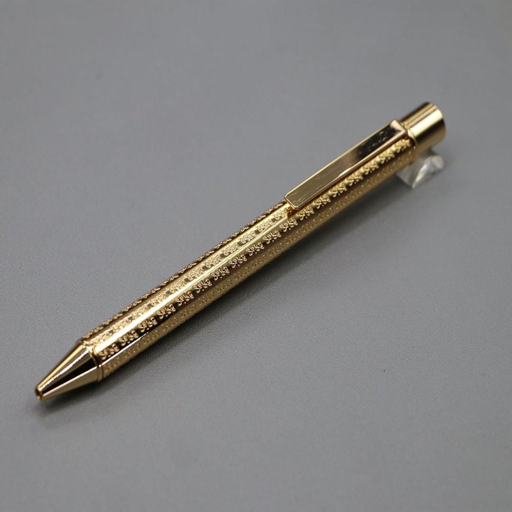 قلم لوسو ذهبي مزخرف