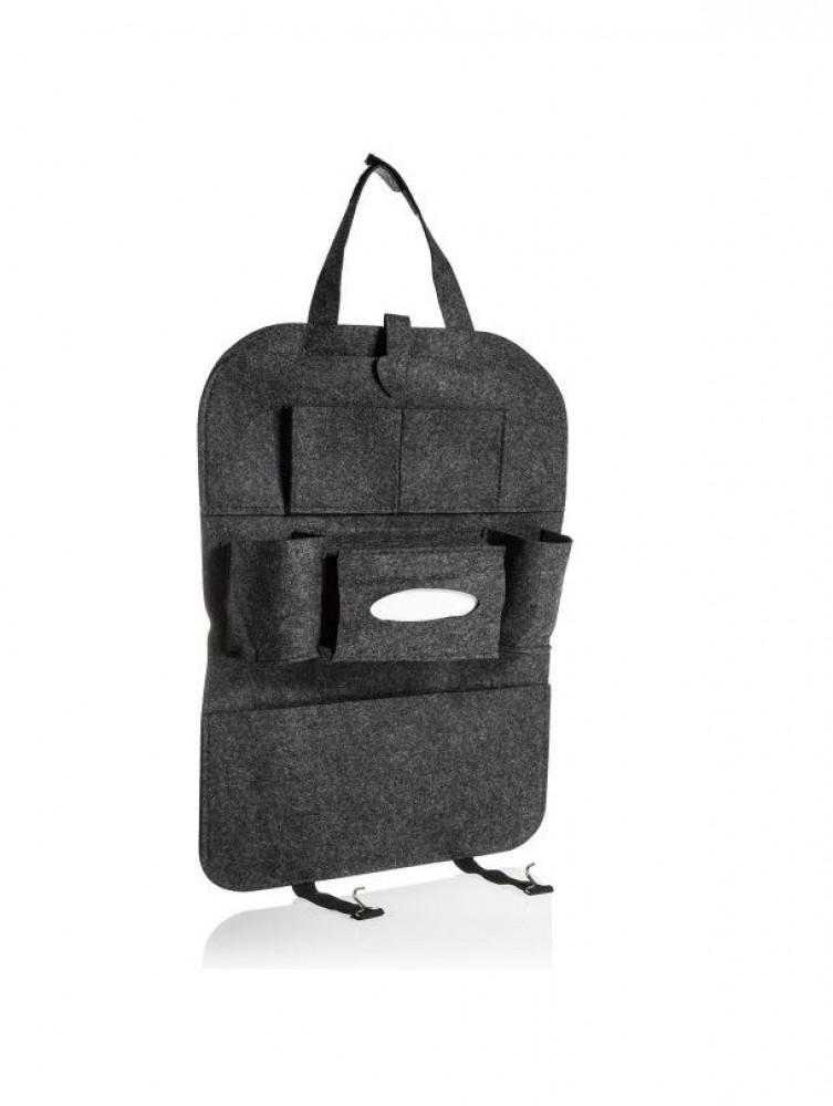 حقيبة تخزين 7 جيوب متعددة الوظائف لمقعد السيارة من الجلد لسلع عائلتك