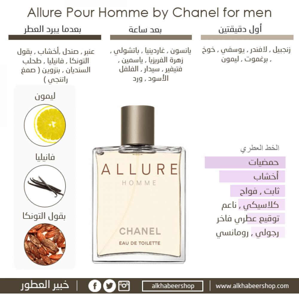 Chanel Allure Homme Eau de Toilette 50ml متجر خبير العطور