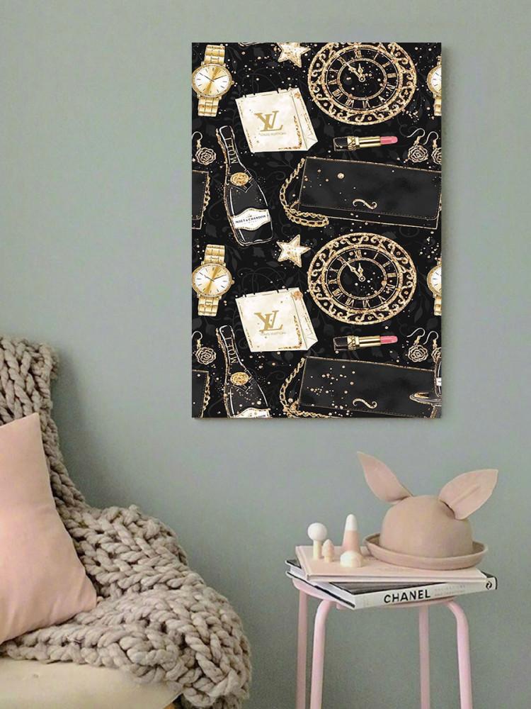 لوحة ماركة لويس فويتون خشب ام دي اف مقاس 40x60 سنتيمتر