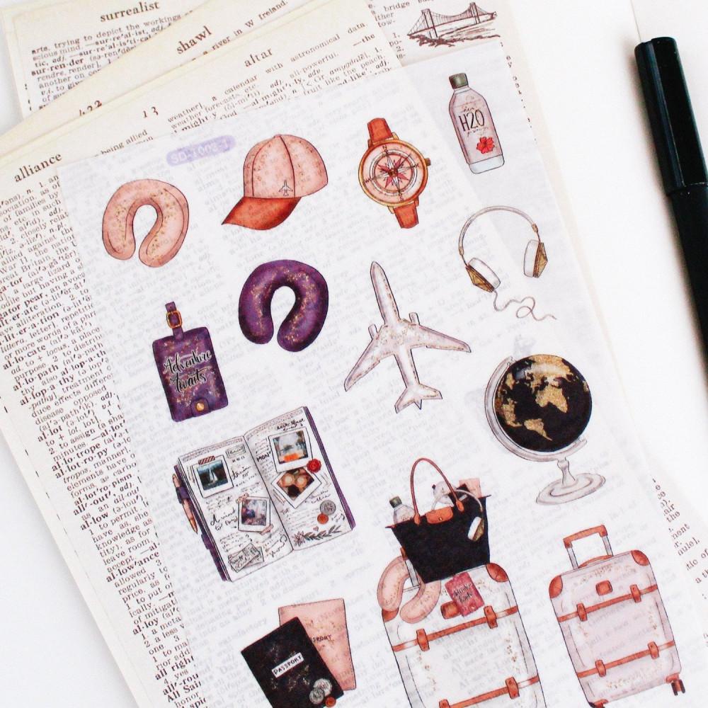 ملصقات ستيكرات لابتوب أجندة دفاتر فستان طائرة سيارة فنتج متجر قرطاسية