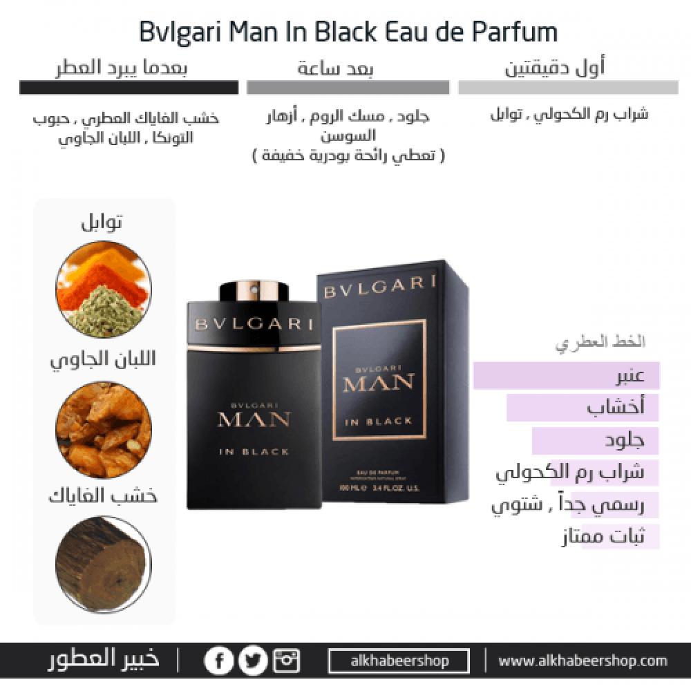 Bvlgari Man In Black Eau de Parfum 60ml خبير العطور