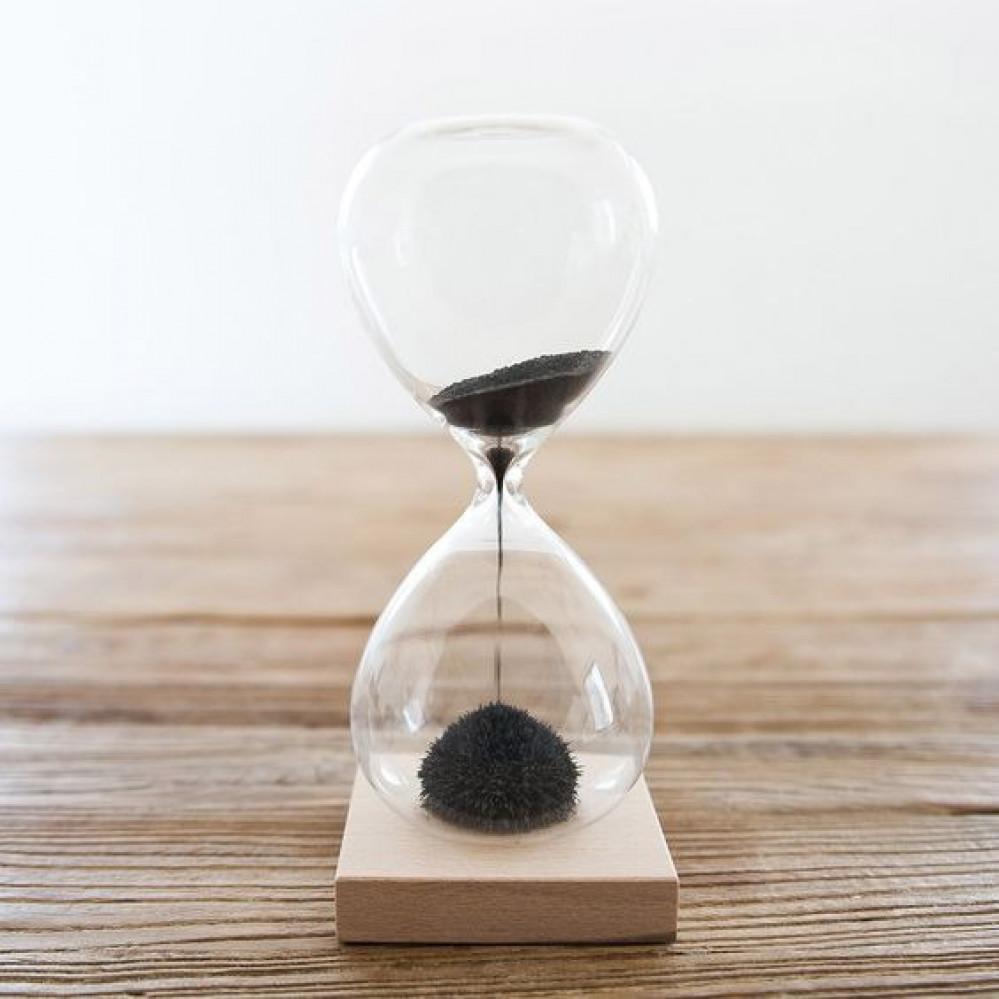 ساعة رملية مغناطيسية ساعة توقيت مبتكرة هدايا اللوازم المكتبية  فاخرة