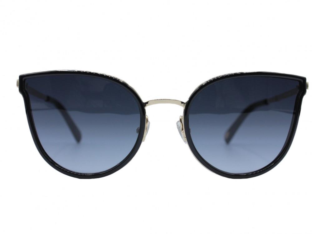نظارة شمسية ماركة FOSSIL نسائية لون العدسة اسود مدرج لون الإطار ذهبي و