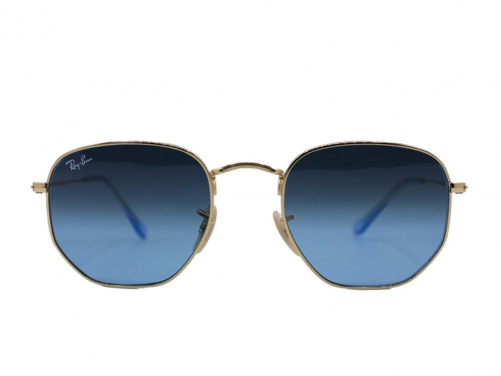 نظاره شمسية سداسي من ماركة RAY BAN لون العدسة ازرق
