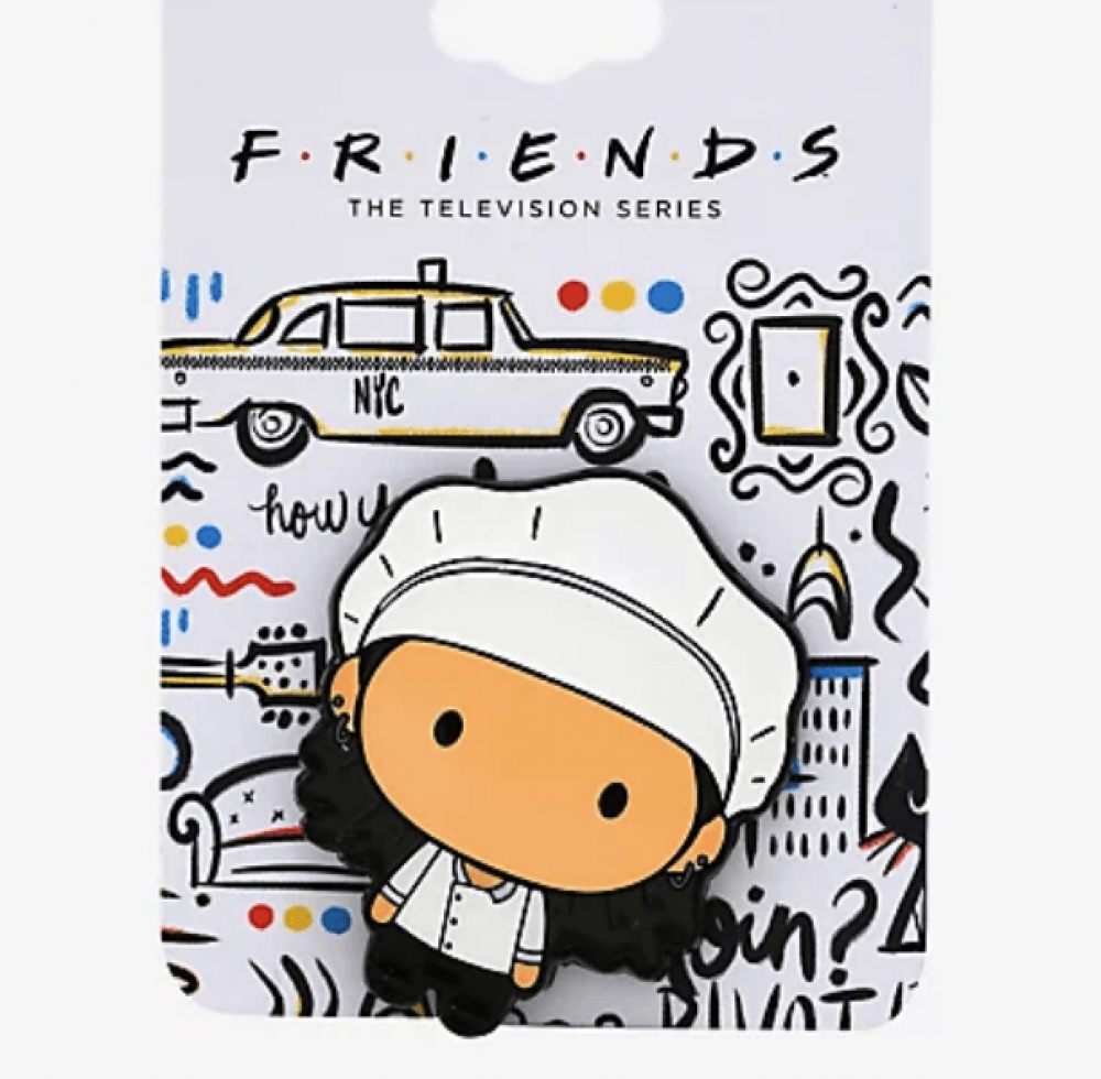 Friends Monica in Chef Hat Chibi Enamel Pin
