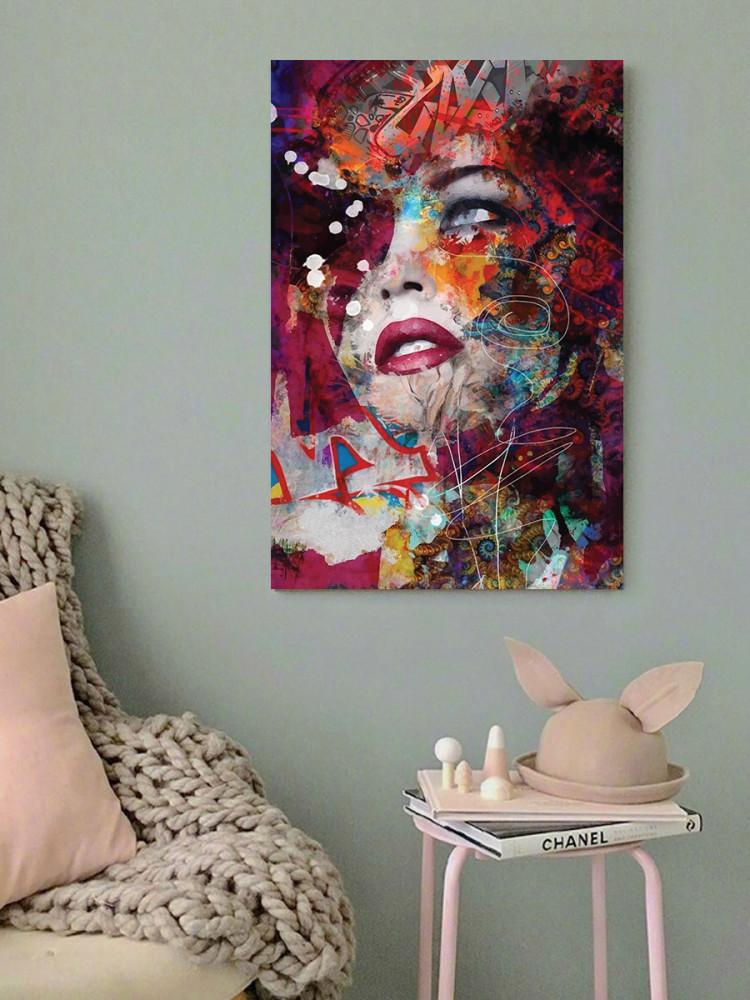 لوحة المرأة فن تجريدي خشب ام دي اف مقاس 40x60 سنتيمتر