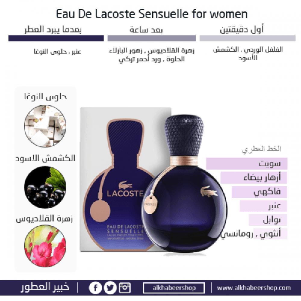 Lacoste Eau de Lacoste Sensuelle Eau de Parfum 90ml خبير العطور