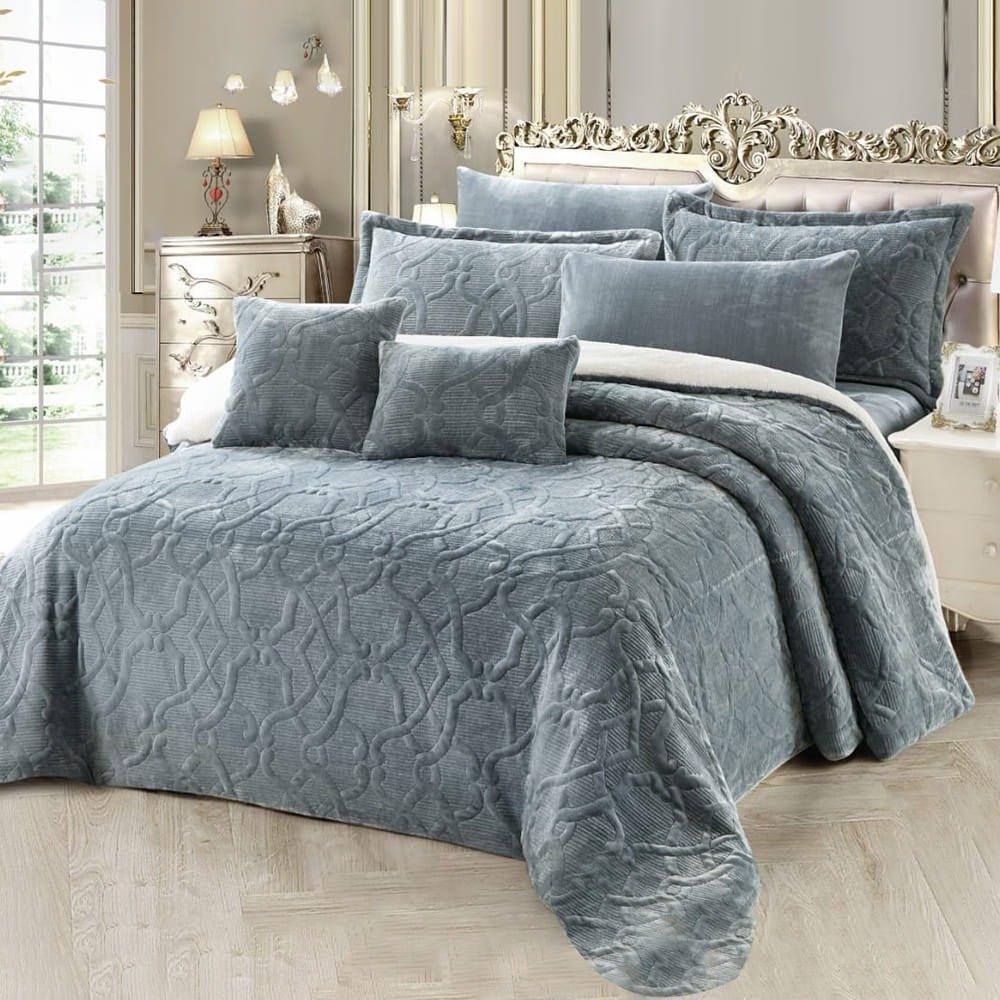 مفرش سرير رمادي - متجر مفارش ميلين