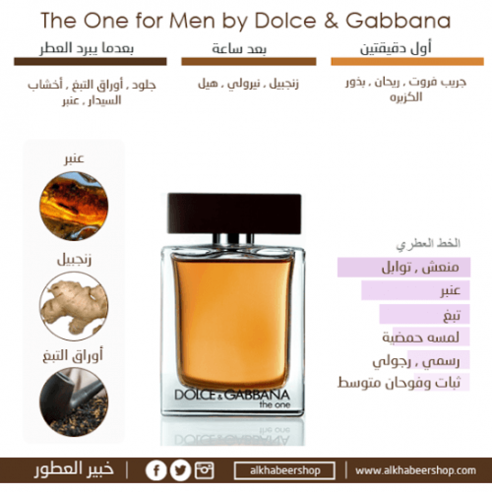 Dolce Gabbana The One for Men Eau de Toilette خبير العطور
