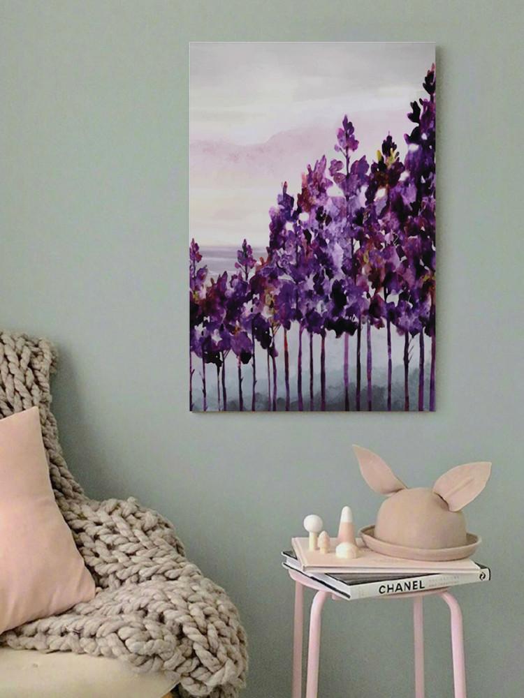 لوحة الشجر البنفسجي خشب ام دي اف مقاس 40x60 سنتيمتر