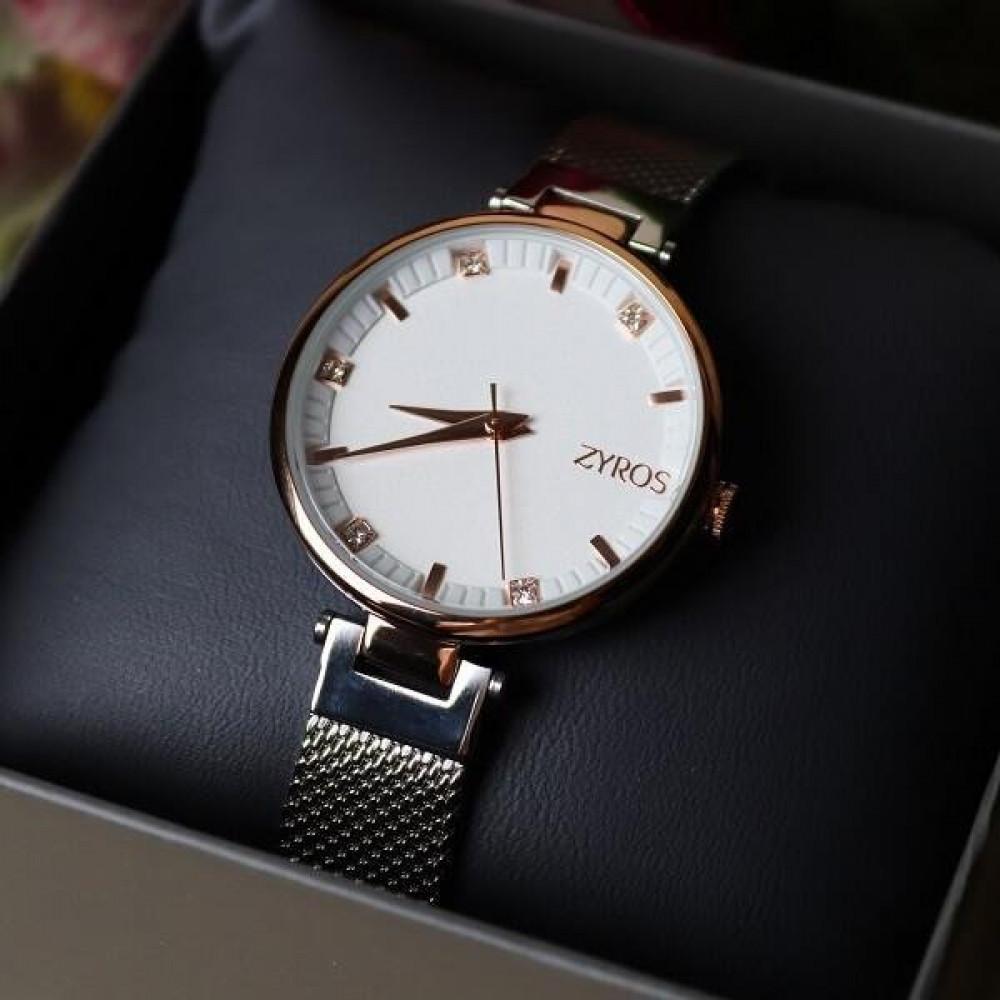 زايروس ساعة فضية من ماركة زايروس