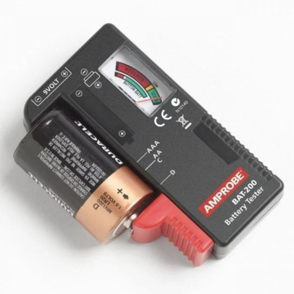 جهاز  قياس مستوى طاقة البطاريات من 5 1 فولت الى 9 فولت بجميع انواعها