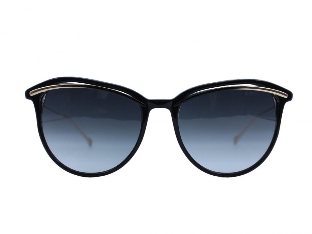 نظاره شمسية دائرية من ماركة  HERMOSSA لون العدسة اسود مدرج نسائية 2021