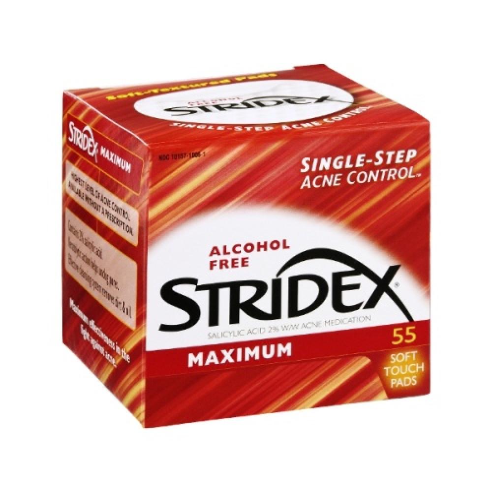 تونر منديل ازالة حب الشباب 55 حبة Stridex افضل حل لازالة حب الشباب