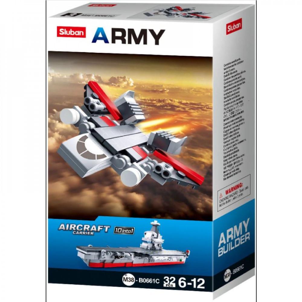 سلوبان, قطع تركيب بلاستيك, طائرة حربية, ألعاب, Army, Sluban, Toys