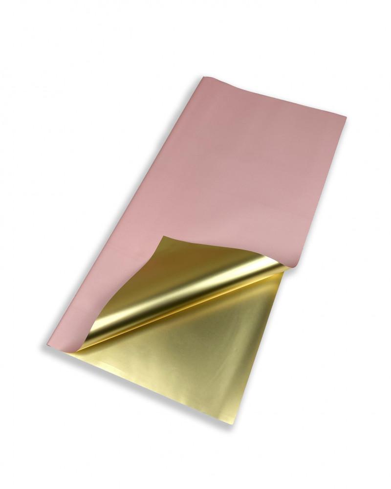 ورق تغليف هدايا لون وردي مع ذهبي