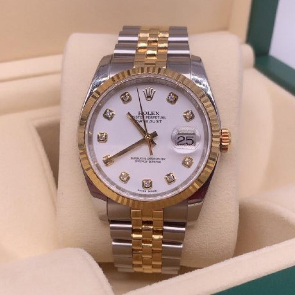 ساعة رولكس ديت جست الأصلية الثمينة مستعملة