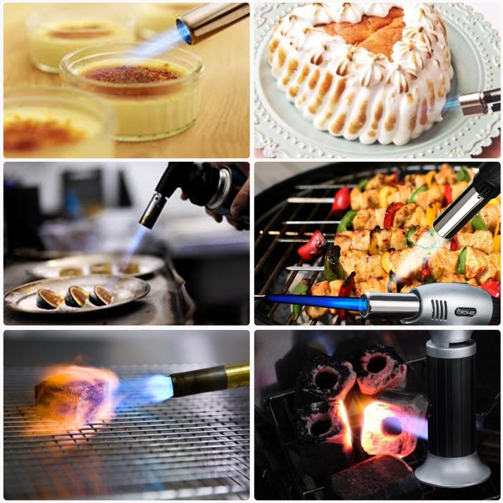 ولاعة متعددة الاستخدامات مطبخ رحلات بشعلة غاز البوتان يعاد تعبيتها - أ