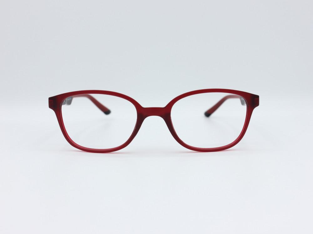 نظارة طبية للأطفال من ماركة T دائرية مع عدسات بحماية لون الاطار احمر و