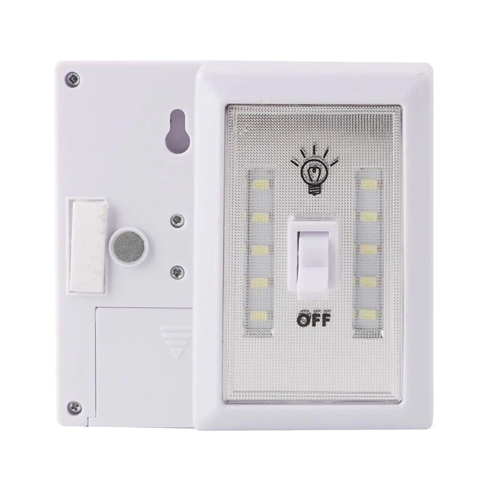 مصباح بدون سلك LED إضاءة يعمل بالبطارية بمفتاح مدمج للاستخدام الداخلي