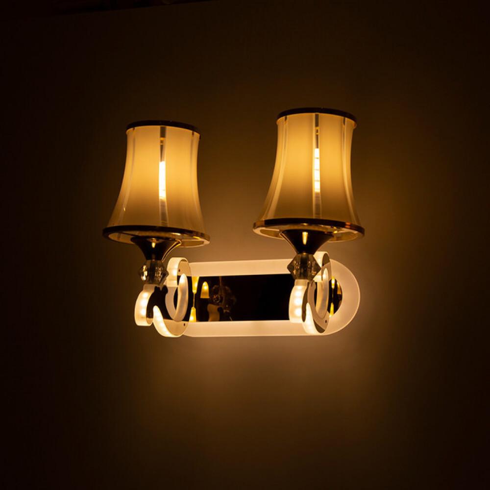 مصباح جداري بأذرع مضيئة مجوز ذهبي - فانوس