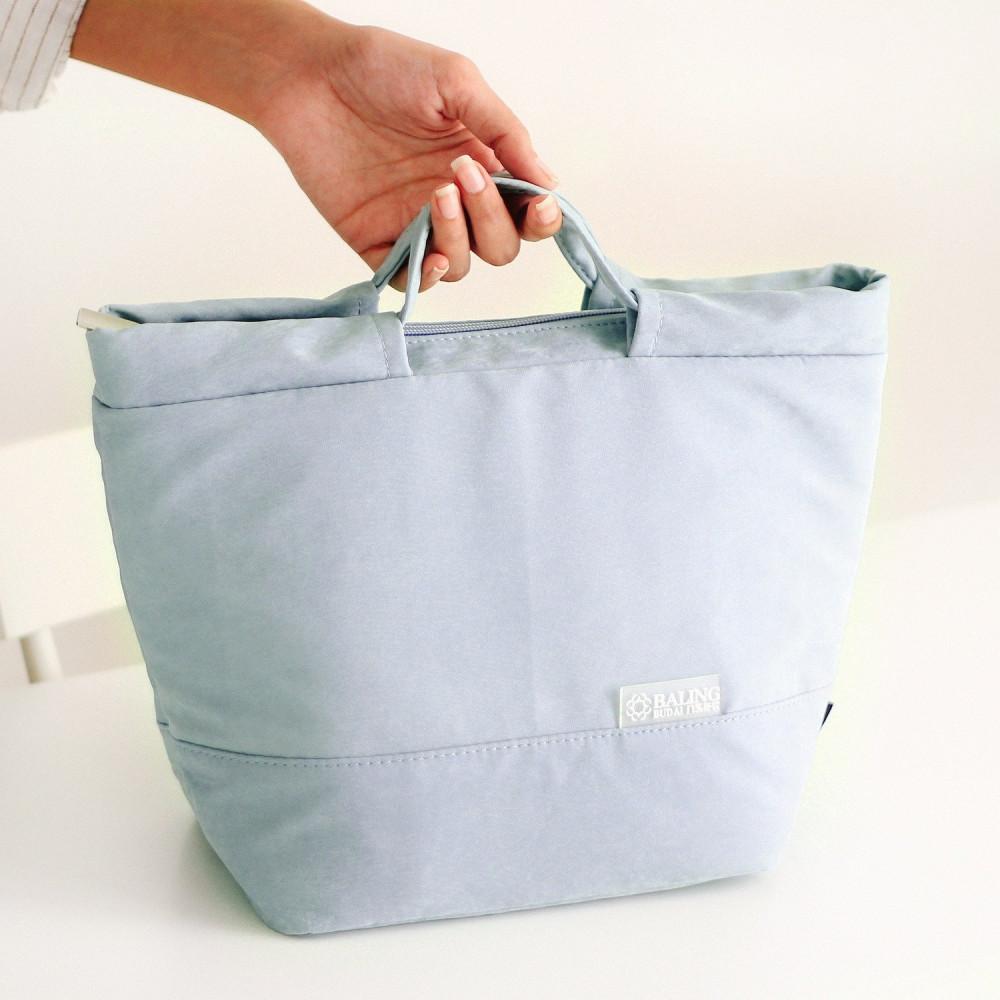 حقيبة لانش بوكس طريقة تحضير غداء ريجيم صندوق غداء حقائب مخمل لون سماوي