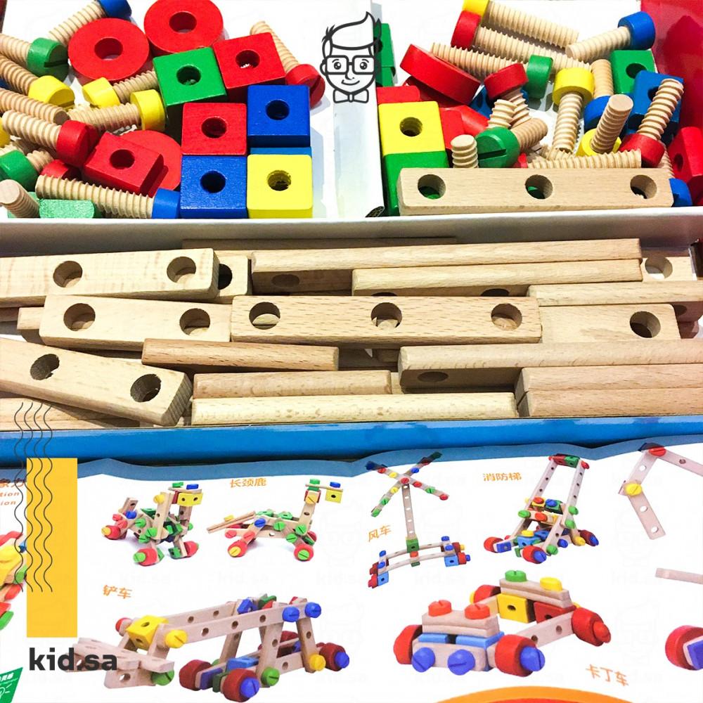 لعبة تعلم الطفل تركيب الاشكال و التركيز